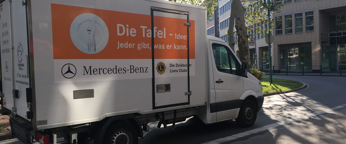 LKW in der City